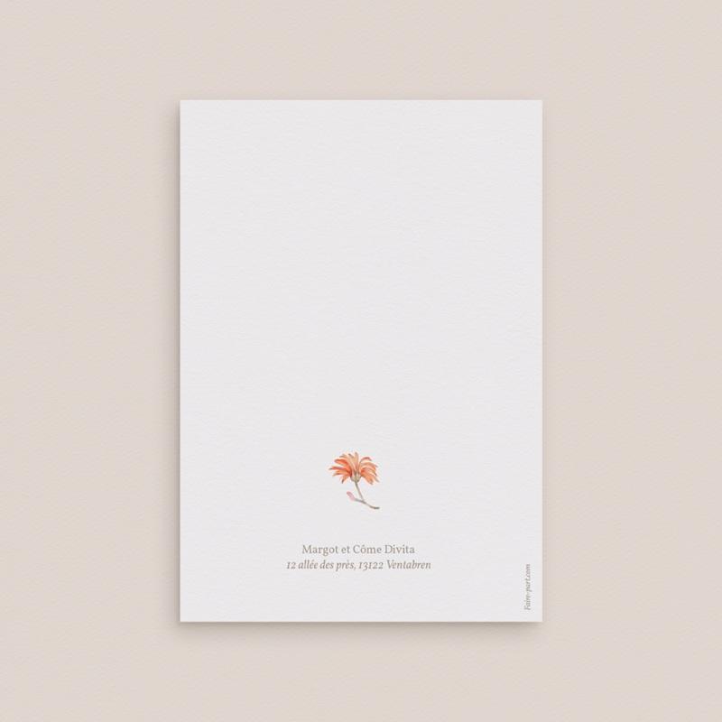 Carte de remerciement mariage Harmonie Florale, 2 photos, double volet