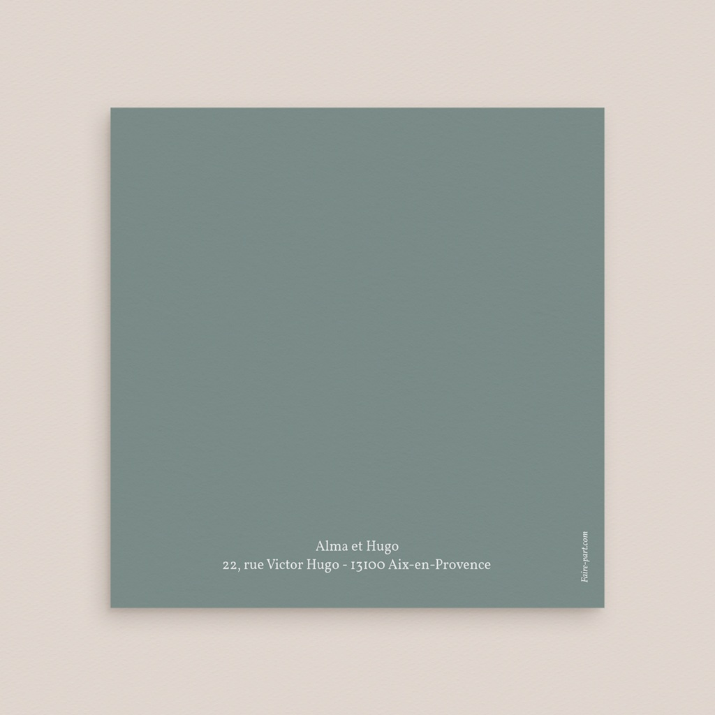 Carte de remerciement mariage Pastel de Fleurs & Feuillage, 3 volets décalés gratuit