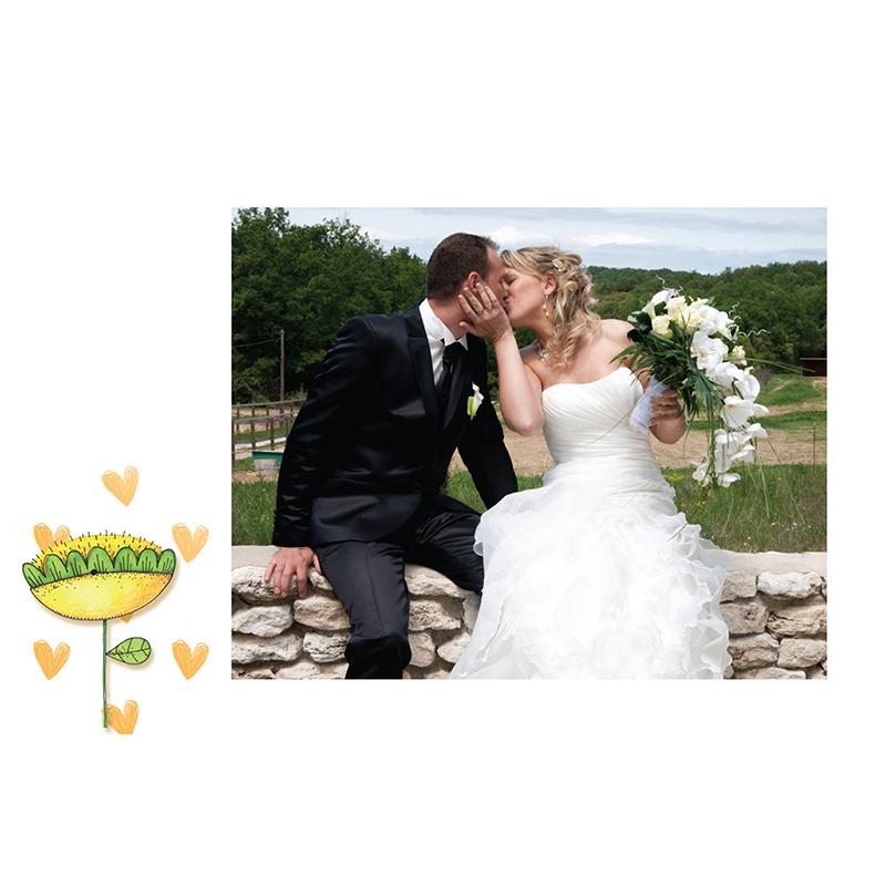 Carte de remerciement mariage Ouizz  gratuit