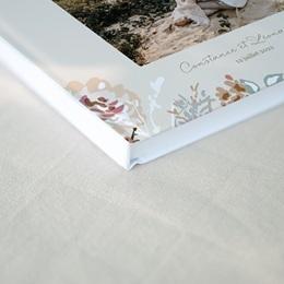 Livre d'or mariage Fleurs Colorées & Kraft gratuit