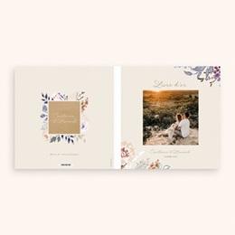 Livre d'or mariage Fleurs Colorées & Kraft