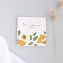 Carton réponse mariage Herbier Mots doux, Rsvp, 10 x 10
