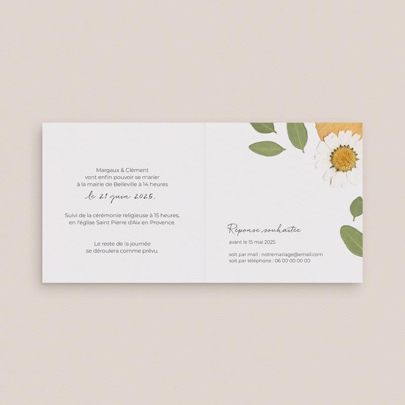 Change the date mariage Herbier Mots doux, 9,5 x 9,5 pas cher