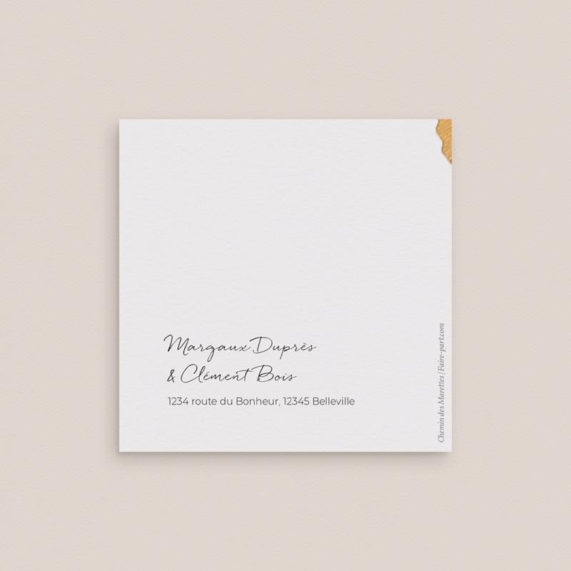 Change the date mariage Herbier Mots doux, 9,5 x 9,5 gratuit