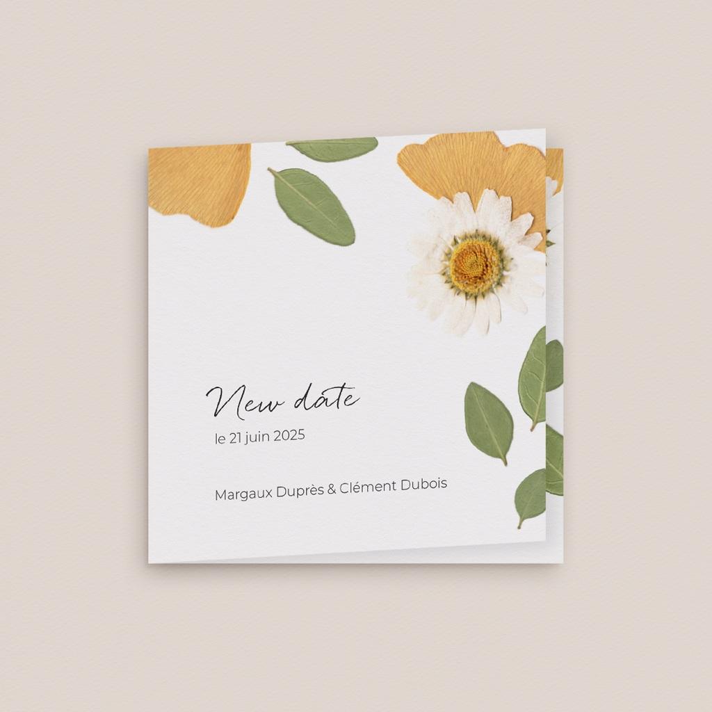 Change the date mariage Herbier Mots doux, 9,5 x 9,5