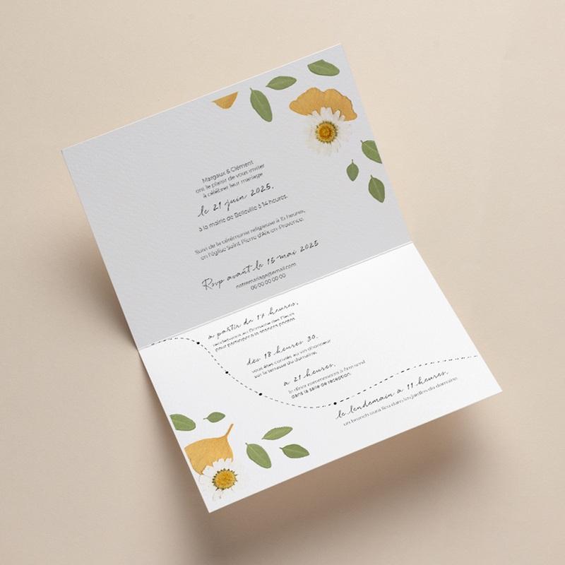 Faire-part de mariage Herbier Mots doux, 17 x12,2 gratuit
