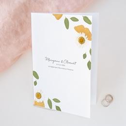 Livret de messe mariage Herbier Mots doux, Couverture