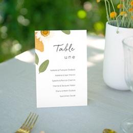 Marque table mariage Herbier Mots doux, lot de 3