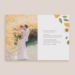 Carte de remerciement mariage Herbier Mots doux, 2 volets pas cher
