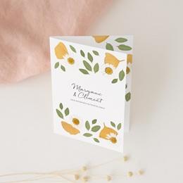 Carte de remerciement mariage Herbier Mots doux, 2 volets