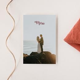 Carte de remerciement mariage Boho Bordeaux & Photo