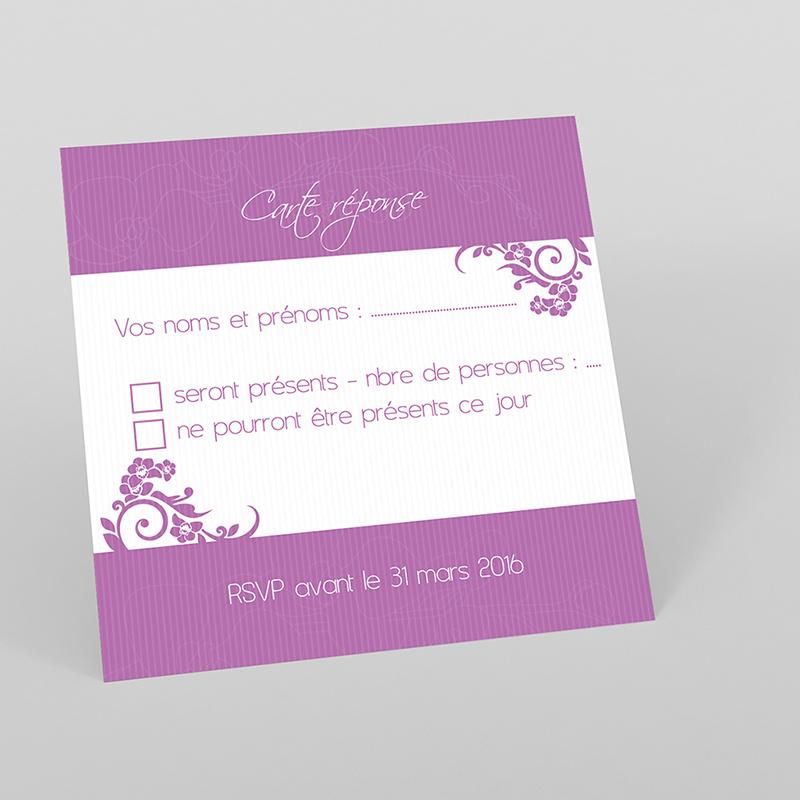 Carton réponse mariage Orchidées
