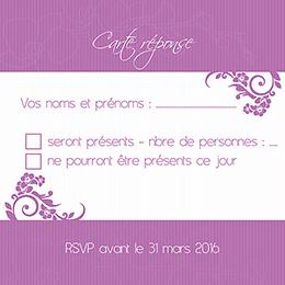 Carton réponse mariage Orchidées  pas cher