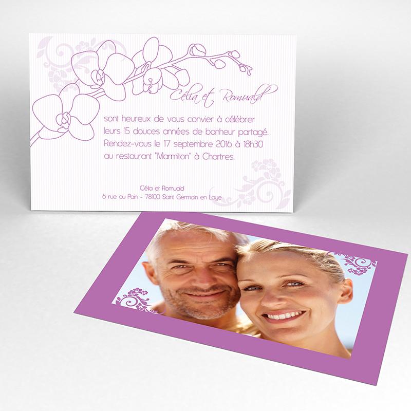 Carte anniversaire de mariage Orchidées