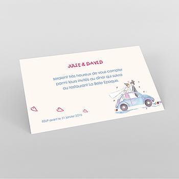 Carte d'invitation mariage La Coccinelle
