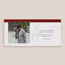 Carte de remerciement mariage Une moto pour 2 pas cher