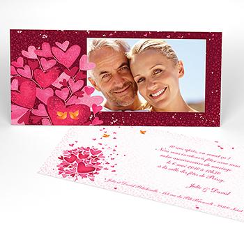 Carte anniversaire de mariage L'Envolée