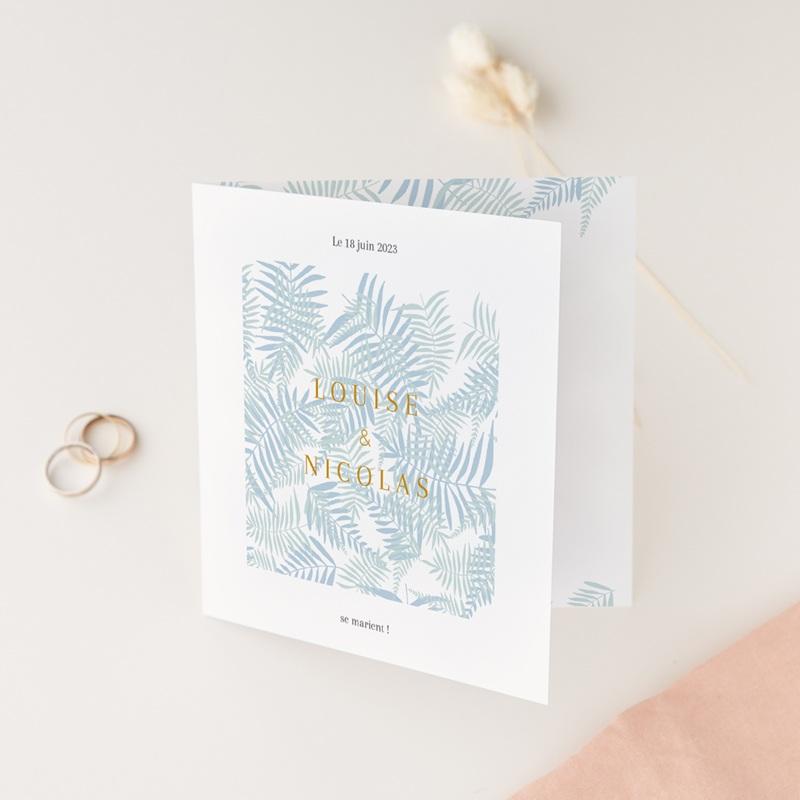 Faire-part de mariage Soft Jungle, 2 volets