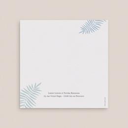 Faire-part de mariage Soft Jungle, 2 volets gratuit