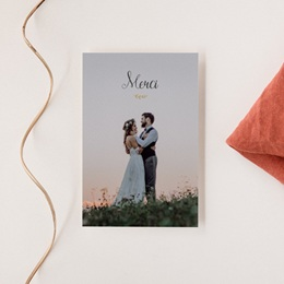 Carte de remerciement mariage Perfect Day Kraft Photo