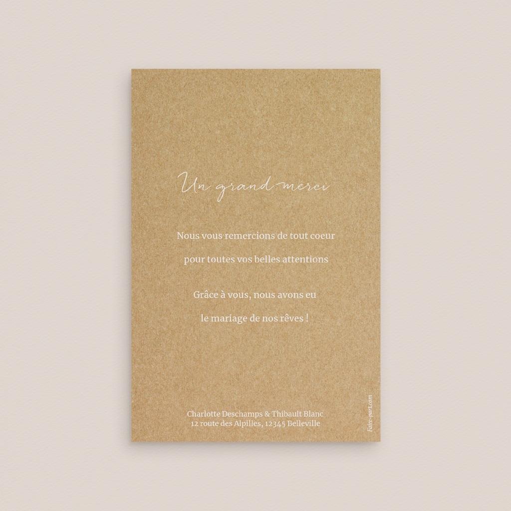 Carte de remerciement mariage Perfect Day Kraft Photo pas cher