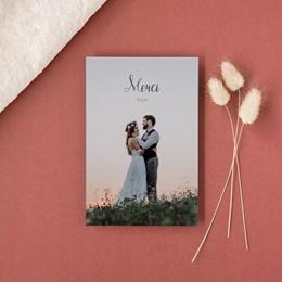 Carte de remerciement mariage Perfect Day Kraft Photo gratuit