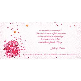 Carte anniversaire de mariage L'Envolée  gratuit