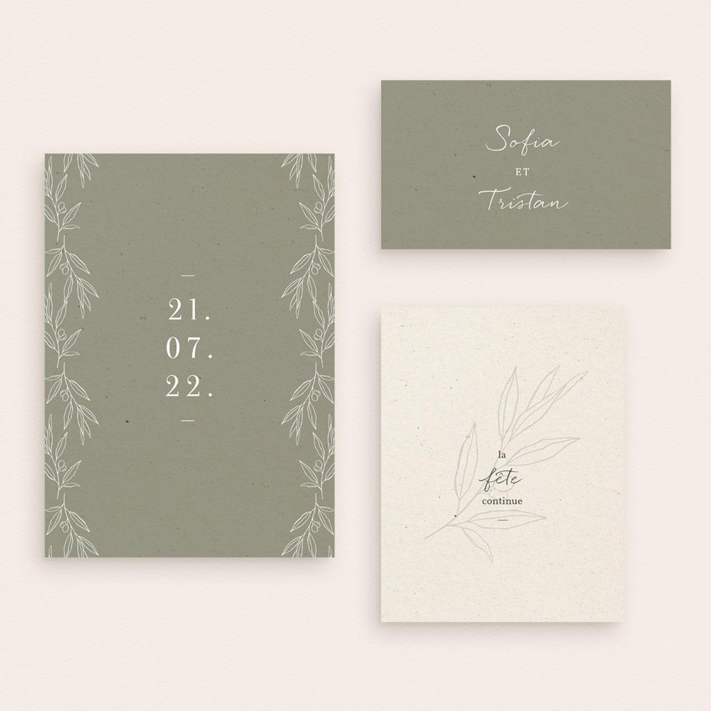 Carte anniversaire de mariage Brin Olivier, naturel gratuit