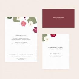Faire-part de mariage Romance Florale, 3 en 1 pas cher