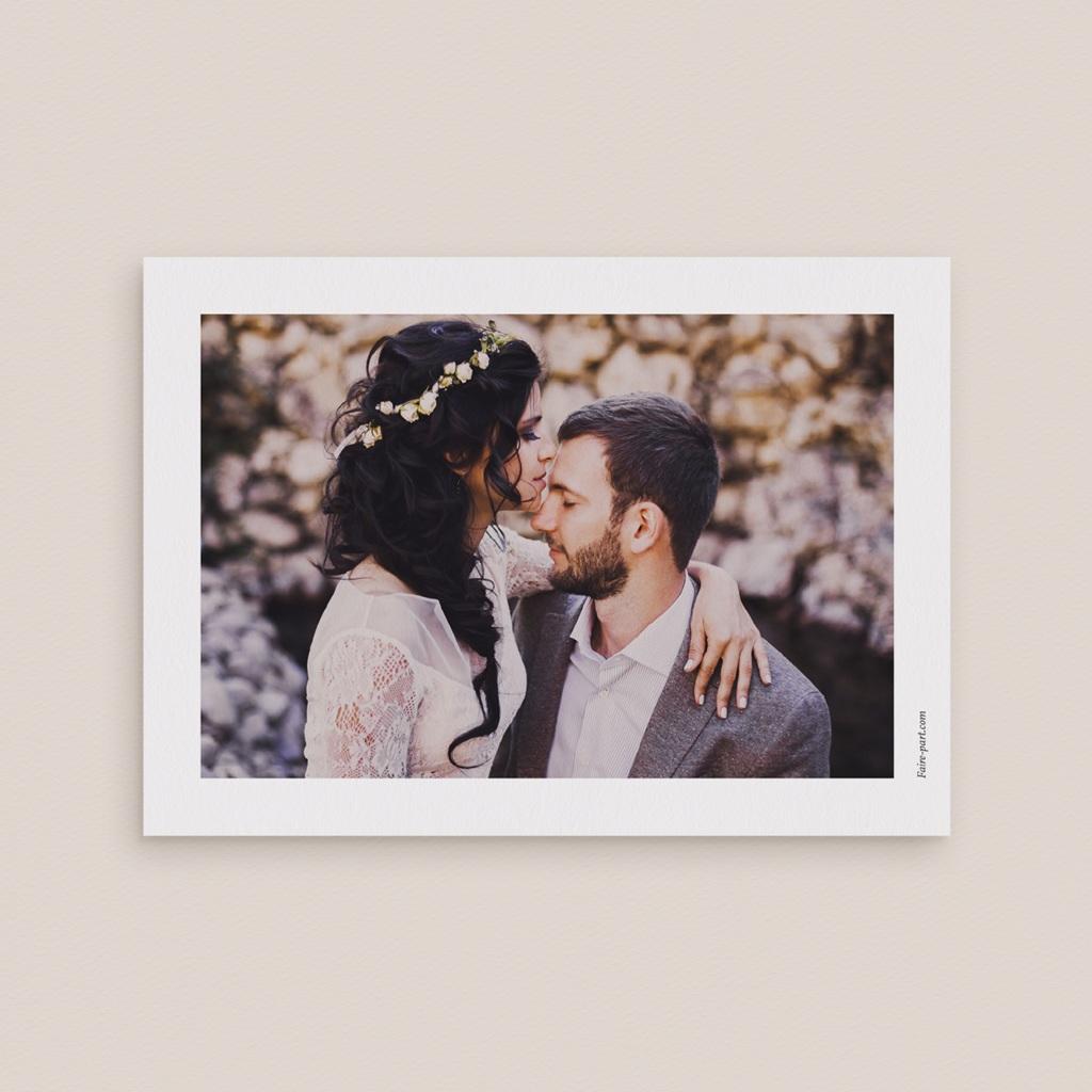 Carte de remerciement mariage Rêverie, photo pas cher