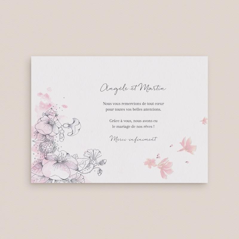 Carte de remerciement mariage Rêverie, photo gratuit