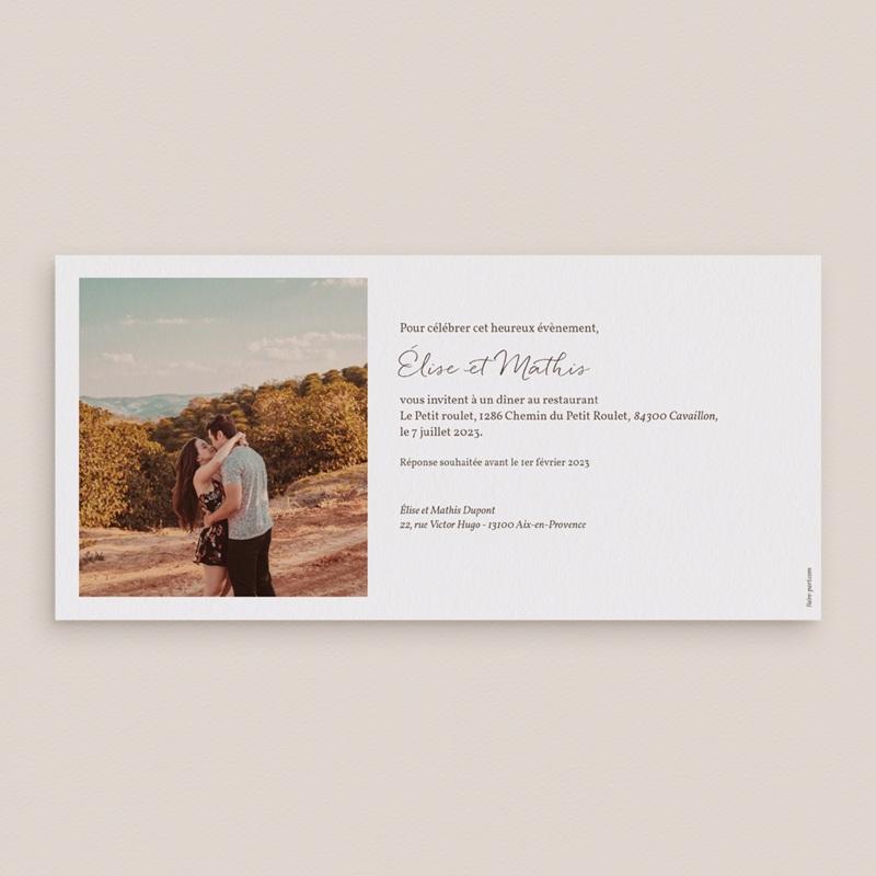 Carte anniversaire de mariage 1 an noces de coton - Panoramique simple pas cher
