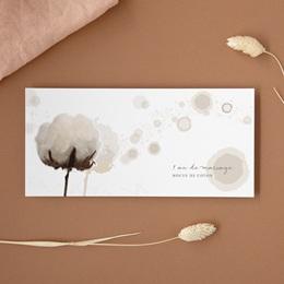 Carte anniversaire de mariage 1 an noces de coton - Panoramique simple