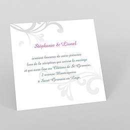 Carte d'invitation mariage Volutes