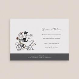 Carte de remerciement mariage Vélo à deux - Rectangle simple gratuit