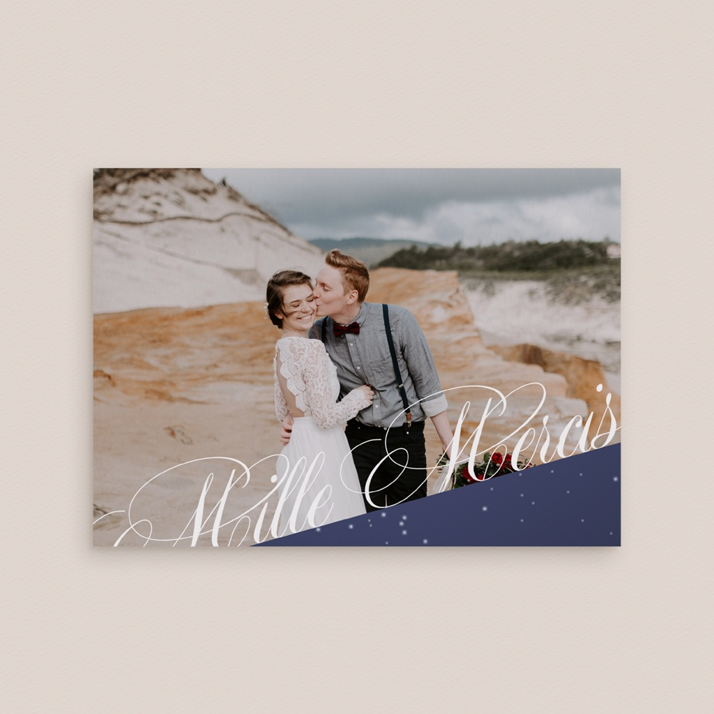 Carte de remerciement mariage Nuit étoilée - Rectangle simple gratuit