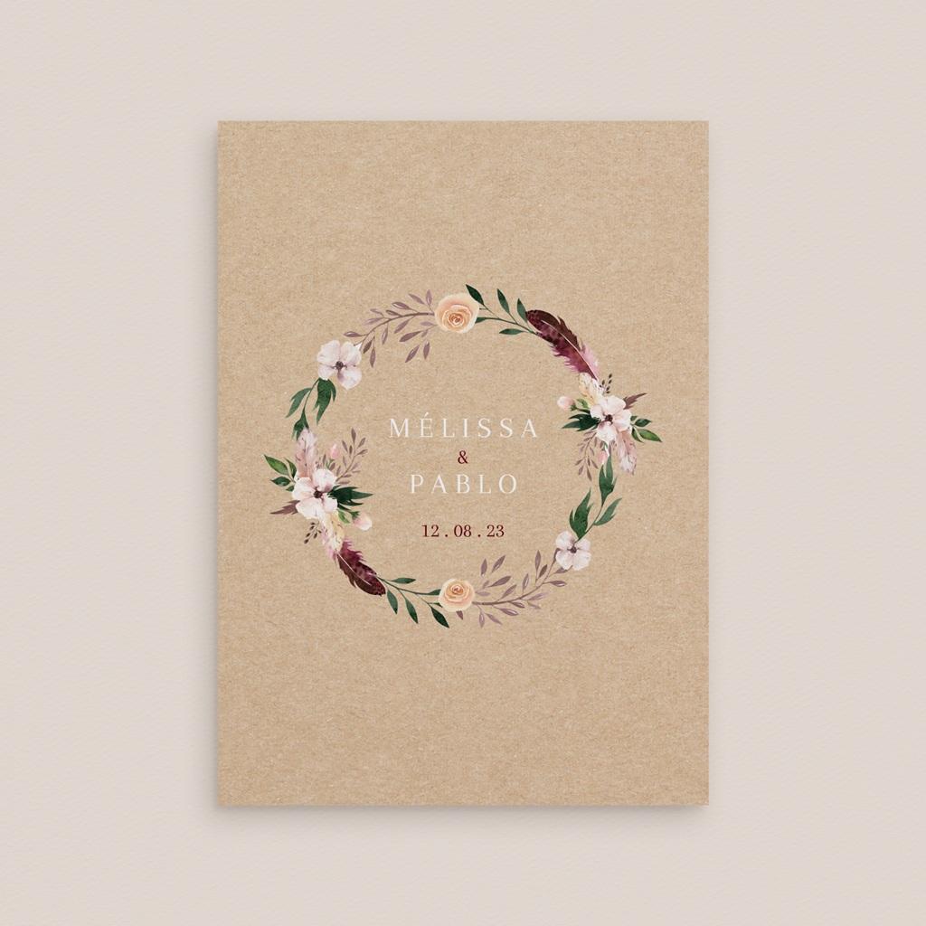 Faire-part de mariage Boho - rectangle simple gratuit