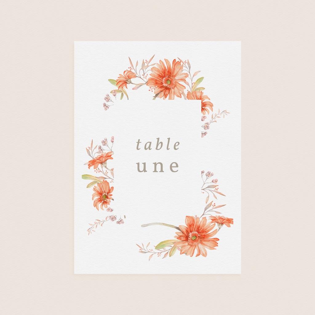 Marque table mariage Harmonie Florale, lot de 3 pas cher