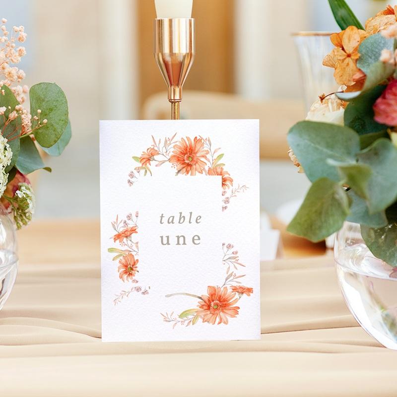 Marque table mariage Harmonie Florale, lot de 3