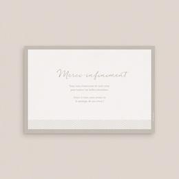 Carte de remerciement mariage Sépia - Rectangle simple pas cher