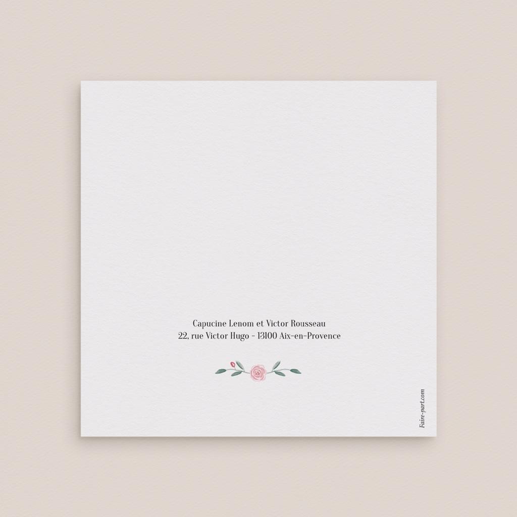 Faire-part de mariage Feuillage, Carré Double gratuit