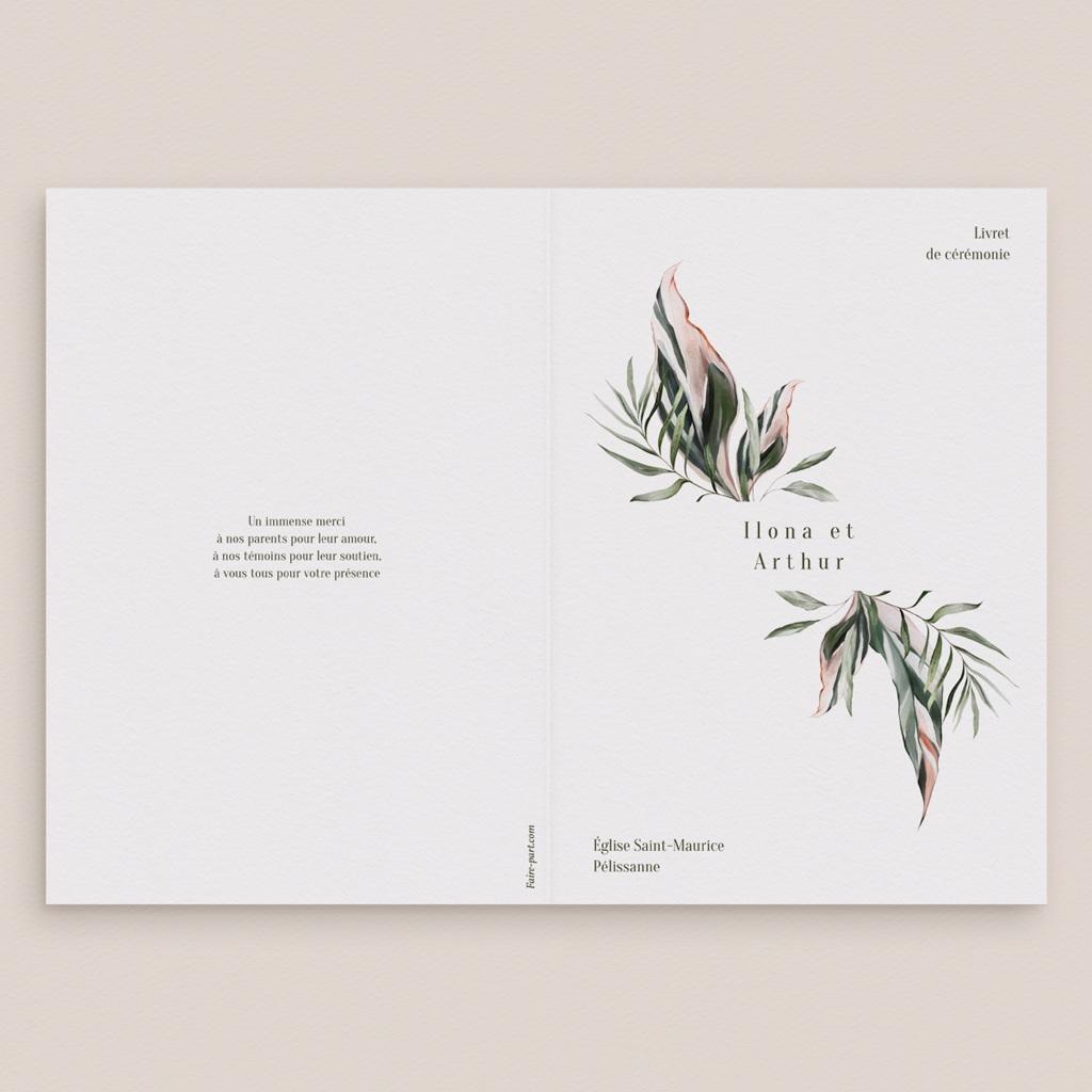 Livret de messe mariage Symétrie Végétale, Couverture gratuit