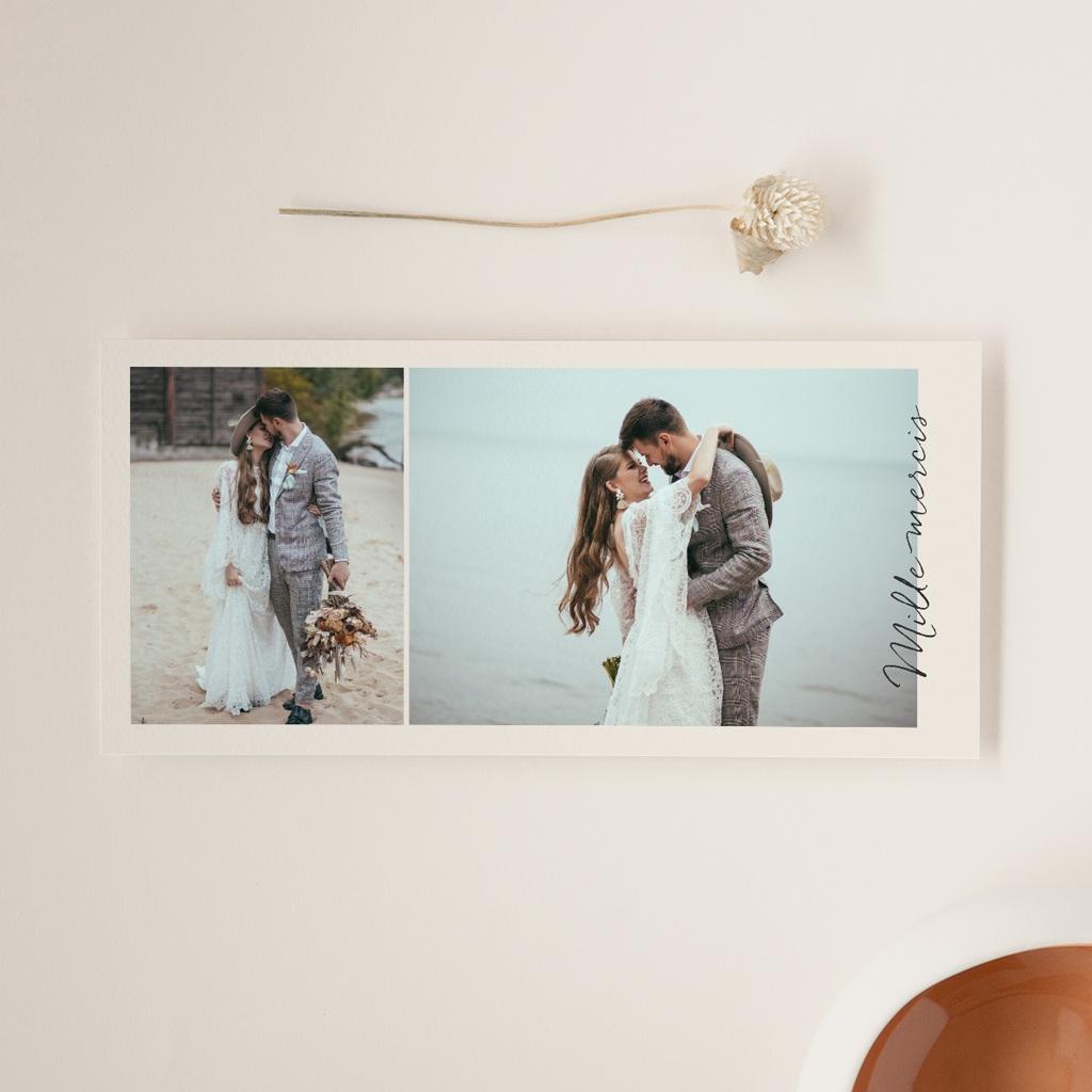 Carte de remerciement mariage Globe de fleurs bohèmes, panoramique