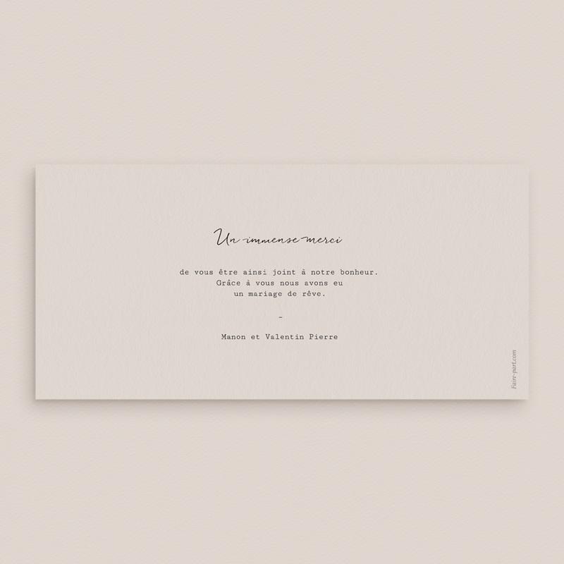 Carte de remerciement mariage Globe de fleurs bohèmes, panoramique pas cher
