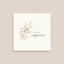 Carton réponse mariage Le Brin doré, Rsvp gratuit