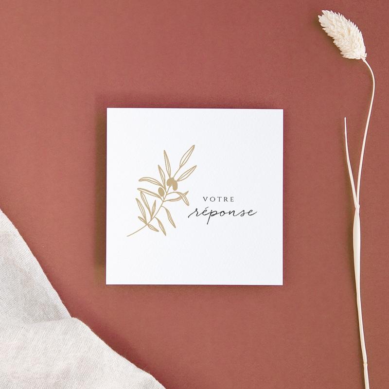 Carton réponse mariage Le Brin doré, Rsvp