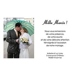 Carte de remerciement mariage A notre image carré gratuit