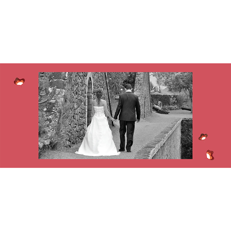 Carte de remerciement mariage Ode à l'amour  pas cher