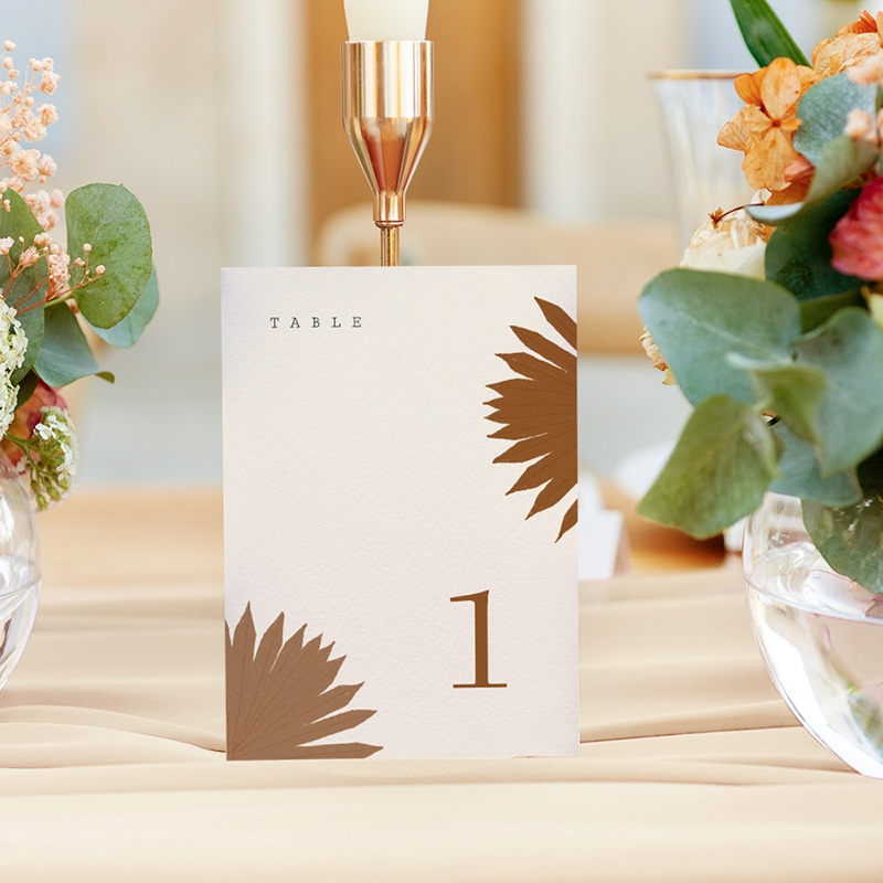 Marque table mariage Globe de fleurs bohèmes, lot de 3