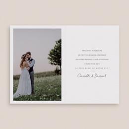 Carte de remerciement mariage Le Brin doré, Double, 10,5 x 15 cm pas cher